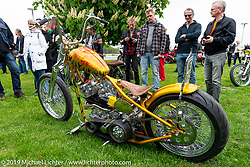 Olli Janssen's (of Finland) custom Harley-Davidson Panhead at the Twin Club's annual Custom Bike Show in Norrtälje, Sweden. Saturday, June 1, 2019. Photography ©2019 Michael Lichter.