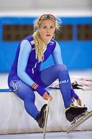 BILDET INNGÅR IKKE I NOEN FASTAVTALER. ALL NEDLASTING BLIR FAKTURERT.<br /> <br /> Skøyter<br /> Foto: imago/Digitalsport<br /> NORWAY ONLY<br /> <br /> Eisschnelllauf Heerenveen 11.11.2017 Saison 2017 / 2018 1500 m Frauen Damen Camilla Lund (NOR) *** Speed \u200b\u200bskating Heerenveen 11 11 2017 Season 2017 2018 1500 m Women Ladies Camilla Lund NOR