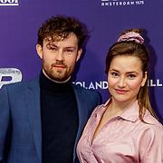 NLD/Amsterdam/20190415 - Filmpremiere première Baantjer het Begin, Maximiliaan Houtman en partner Barbara Sloesen