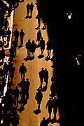 Image of people walking along the Via Condotti near the Spanish Steps in Rome, Italy by Randy Wells