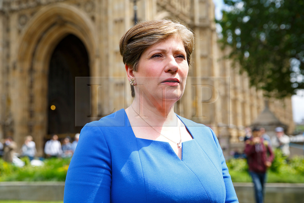 © Licensed to London News Pictures. 26/06/2016. London, UK. Shadow Defence Secretary EMILY THORNBERRY arrives at College Green outside the Parliament in London for TV interviews on 26 June 2016. Photo credit: Tolga Akmen/LNP