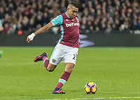 Football - 2016 / 2017 Premier League - West Ham United vs. Stoke City<br /> <br /> Dimitri Payet of West Ham at The London Stadium.<br /> <br /> COLORSPORT/DANIEL BEARHAM