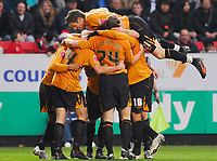 Photo: Leigh Quinnell/Sportsbeat Images.<br /> Charlton Athletic v Hull City. Coca Cola Championship. 22/12/2007. Hull celebrate Frazier Campbells goal.