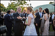 Francois-Henri Pinault ; Princess Beatrice, 2014 Serpentine's summer party sponsored by Brioni.with a pavilion designed this year by Chilean architect Smiljan Radic  Kensington Gdns. London. 1July 2014