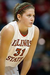 13 November 2005:  Redbird Nicolle Lewis. With a final score was 93-58, the Illinois State University Redbirds overcome the Bearcats of Northwest Missouri State in an exhibition match up Sunday afternoon at Redbird Arena in Normal Illinois.  The final score was 93-58.