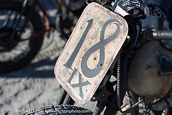Michael McElwee's 1945 Harley Davidson WL at the the Race of Gentlemen. Wildwood, NJ, USA. October 11, 2015.  Photography ©2015 Michael Lichter.