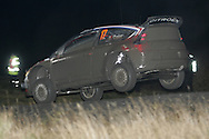 Action from the Wales Rally GB 2008. Stage under darkness at the Walters Arena nr Glynneath,South Wales on Friday 5th Dec 2008..Sebastien Ogier/Julien Ingrassia of France in their Citroen C4 WRC car.