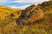 Limestone concretion<br /> Red Rock COulee Natural Preserve<br /> Alberta<br /> Canada