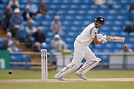 Yorkshire Batsman Joe Root plays the ball to third man  during the Specsavers County Champ Div 1 match between Yorkshire County Cricket Club and Surrey County Cricket Club at Headingley Stadium, Headingley, United Kingdom on 10 May 2016. Photo by Simon Davies.