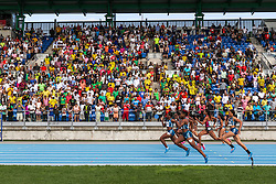 Tori Bowie, USA,  wins women's 100 meter dash at adidas Grand Prix Diamond League track and field meet