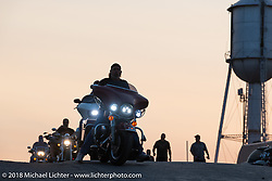 Sunset over the Buffalo Chip during the 78th annual Sturgis Motorcycle Rally. Sturgis, SD. USA. Thursday August 9, 2018. Photography ©2018 Michael Lichter.