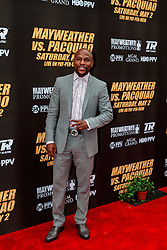 LOS ANGELES, CA - MAR 10 Floyd Mayweather arrives at the red carpet before the Mayweather vs Pacquiao press conference at the Nokia Theater in Los Angeles, California USA to promote their upcoming bout at the MGM Grand in Las Vegas, NV May 2, 2015. This is the ony presser. 2015 Feb 9. Byline, credit, TV usage, web usage or linkback must read SILVEXPHOTO.COM. Failure to byline correctly will incur double the agreed fee. Tel: +1 714 504 6870.