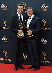 Carson Daly & Mark Burnett  im Press Room bei der Verleihung der 68. Primetime Emmy Awards in Los Angeles / 180916<br /> <br /> *** 68th Primetime Emmy Awards in Los Angeles, California on September 18th, 2016***