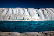 Melt River, Petermann Glacier, Greenland. In 2010 and 2012 Petermann calved ice islands totalling 400 square kilometres.