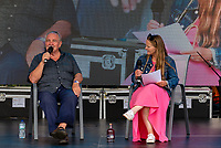Professor David Nut former drugs Tsar talking about the effects of drugs and alcohol on the brain, and promotimg his new alcohol replacement Sentia at the Also Festival 2021 at Cpmton Verney,photo by Mark Anton Smith<br /> .