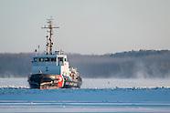 Coast Guard icebreaker Sturgeon Bay on the Hudson River