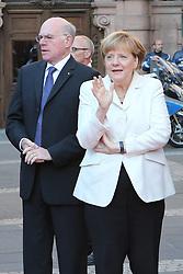 03.10.2015, Frankfurt am Main, GER, Tag der Deutschen Einheit, im Bild Bundeskanzlerin Angela Merkel an der Paulskirche mit Bundestagspräsident Norbert Lammert // during the celebrations of the 25 th anniversary of German Unity Day in Frankfurt am Main, Germany on 2015/10/03. EXPA Pictures © 2015, PhotoCredit: EXPA/ Eibner-Pressefoto/ Roskaritz<br /> <br /> *****ATTENTION - OUT of GER*****