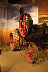 Minnesota, Twin Cities, Minneapolis-Saint Paul: Mill City Museum, showing flour milling history in Minneapolis.  Steam tractor used in wheat farming..Photo mnqual251-75339..Photo copyright Lee Foster, www.fostertravel.com, 510-549-2202, lee@fostertravel.com.