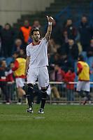 31.01.2013 SPAIN - Copa del Rey 12/13 Matchday 1/4  match played between Atletico de Madrid vs Sevilla Futbol Club (2-1) at Vicente Calderon stadium. The picture show Alvaro Negredo Sanchez (Spanish Forward of Sevilla F.C.)