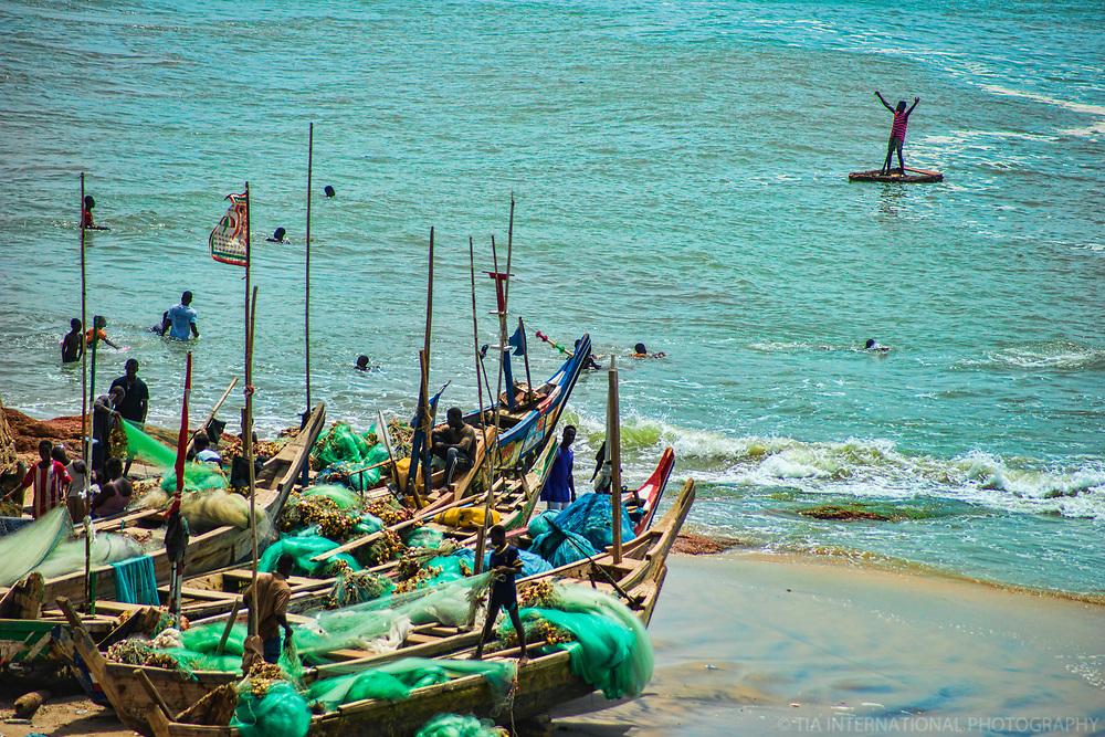 Fishing Fleet & Paddle Boarder