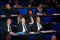 DEU, Deutschland, Germany, Berlin, 31.01.2019: Blick in die Reihen der AfD-Bundestagsfraktion (Alternative für Deutschland, AfD) bei einer Plenarsitzung im Deutschen Bundestag. Bildmitte: Karsten Hilse, rechts daneben Roland Hartwig.