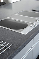 hob in kitchen of modern home