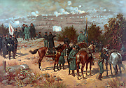 American Civil War 1861-1865: Battle of Chattanooga during a series of manoeuvres and battles in October and November 1863, between Confederates under Braxton Bragg and Union under Ulysses Grant. Print c1880.