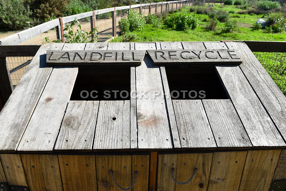 Landfill and Recycle Bin at the Fullerton Arboretum