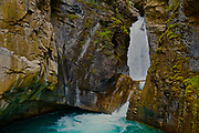 Canadian Rocky Mountains, Banff National Park, Alberta, Johnston Canyon waterfallls