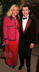 MR & MRS PAUL STEWART, he is the son of racing driver Jackie Stewart, at a party in London on 17th October 2000.OHY 77