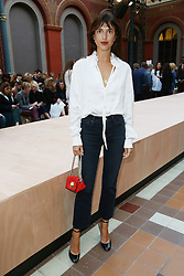 Jeanne Damas attending at the Sonia Rykiel show as a part of Paris Fashion Week Ready to Wear Spring/Summer 2017 on 03 October, 2016 in Paris, France. Photo by Jerome Domine/ABACAPRESS.COM