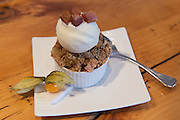 white cheddar apple crumble with candied bacon - Play Food & Wine, 1 York St., Ottawa