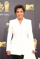 June 16, 2018 - Santa Monica, CA, U.S. - 16 June 2018-  Santa Monica, California - Kris Jenner. 2018 MTV Movie And TV Awards held at Barker Hangar. Photo Credit: Faye Sadou/AdMedia (Credit Image: © Faye Sadou/AdMedia via ZUMA Wire)