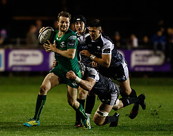 Jack Carty of Connacht<br /> <br /> Photographer Simon King/Replay Images<br /> <br /> Guinness PRO14 Round 7 - Ospreys v Connacht - Friday 26th October 2018 - The Brewery Field - Bridgend<br /> <br /> World Copyright © Replay Images . All rights reserved. info@replayimages.co.uk - http://replayimages.co.uk