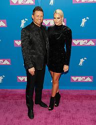 August 21, 2018 - New York City, New York, USA - 8/20/18.Michael Mizanin and Maryse Mizanin at the 2018 MTV Video Music Awards at Radio City Music Hall in New York City. (Credit Image: © Starmax/Newscom via ZUMA Press)