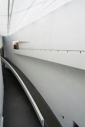 Interior of Kiasma contemporary art museum in Helsinki Finland