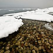 Rocks and ice in Elu Inlet, Nunavut, Canada