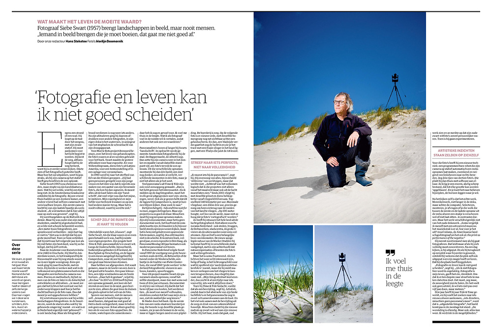 NRC van maandag 11 mei 2020, interview door Hans Steketee.<br /> Foto Merlijn Doomernik.<br /> Afbeelding is pdf bestand en dit kan gedownload worden - om het vraaggesprek te kunnen lezen ;-)<br /> (klik op de 'down'load-pijl hierboven)