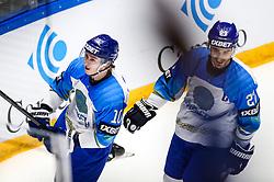 Nikita Mikhailis of Kazakhstan and Brandon Bochenski of Kazakhstan celebrate during ice hockey match between Slovenia and Kazakhstan at IIHF World Championship DIV. I Group A Kazakhstan 2019, on April 29, 2019 in Barys Arena, Nur-Sultan, Kazakhstan. Photo by Matic Klansek Velej / Sportida