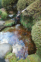 """Hokukuji Temple Water Fountain - sometimes call """"the Bamboo Temple"""" because of its large bamboo grove was once the family temple of both the Ashikaga and Uesugi clans.  The temple and its gardens were established by Zen scholar and monk Tengan Eko, posthumously named Butsujo Zenji."""