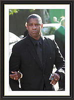 Denzel Washington at Nelson Mandelas Birthday Party Hyde Park London A3 Museum-quality Archival signed Framed Print