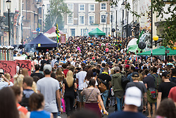 London, August 28th 2016. Thousands throng the streets of Notting Hill as Europe's biggest street party, the Notting Hill Carnival gets underway.