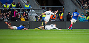 Twickenham, United Kingdom. 7th February, Jonny MAY with the first try of the game in the South West corner. England vs France, 2019 Guinness Six Nations Rugby Match   played at  the  RFU Stadium, Twickenham, England, <br /> © PeterSPURRIER: Intersport Images