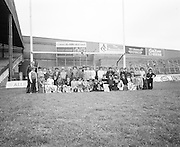 A group photo of the children on their visit to Croke Park during a Kells Educational Tour on the 12th of June 1975.