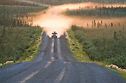 Alaska. Dempster Highway leads north to Deadhorse and Prudhoe Bay oil fields.