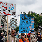 BBC Broadcasting House, London, UK, 1st July 2017. Thousands protestors march to Parliament square to protest and rally Not one day more #ToriesOut a National Demonstration demand unconfident Tories out attack disable, Austerity, NHS School and demand Justice for Grenfell.