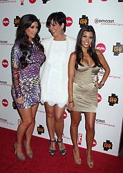 Kim Kardashian, Kris Jenner, Kourtney Kardashian at the The Comcast Entertainment Group TCA Cocktail Party, The Beverly Hilton Hotel, in Los Angeles, CA, USA, on August 6, 2010. (Pictured: Kim Kardashian, Kris Jenner, Kourtney Kardashian). Photo by Baxter/ABACAPRESS.COM  | 240205_025