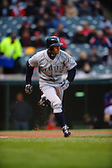 The Seattle Mariners defeated the Cleveland Indians 7-2 on April 29, 2008 at Progressive Field in Cleveland..Ichiro Suzuki runs to first base on a single.