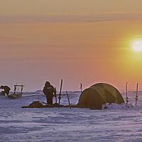 Expedition camp on the Arctic Ocean near Severnaya Zemlya.