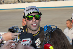 October 7, 2018 - Dover, Delaware, United States of America - Aric Almirola (10) speaks to the media following the Gander Outdoors 400 at Dover International Speedway in Dover, Delaware. (Credit Image: © Justin R. Noe Asp Inc/ASP via ZUMA Wire)